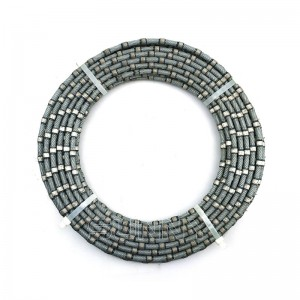 10.5mm Diamond Wire Saw Beads Plastic Granite Wire Saw For Sale