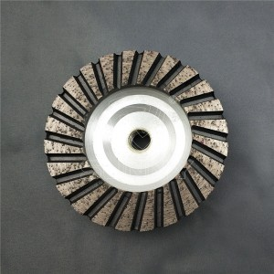4 Inch Turbo Type Diamond Cup Wheel With Aluminium Body