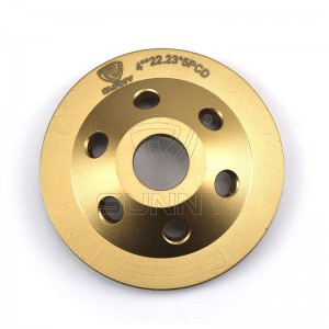 China 100mm Quarter Round PCD Diamond Cup Wheels For Coating Removals