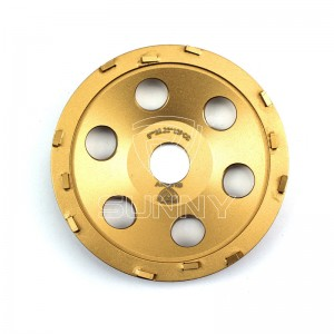 5 Inch PCD Diamond Cup Wheel For Epoxy Coating Removals
