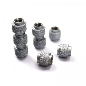 Vacuum Brazed Diamond Wire Saw Beads For Fast Cutting Reinforced Concrete