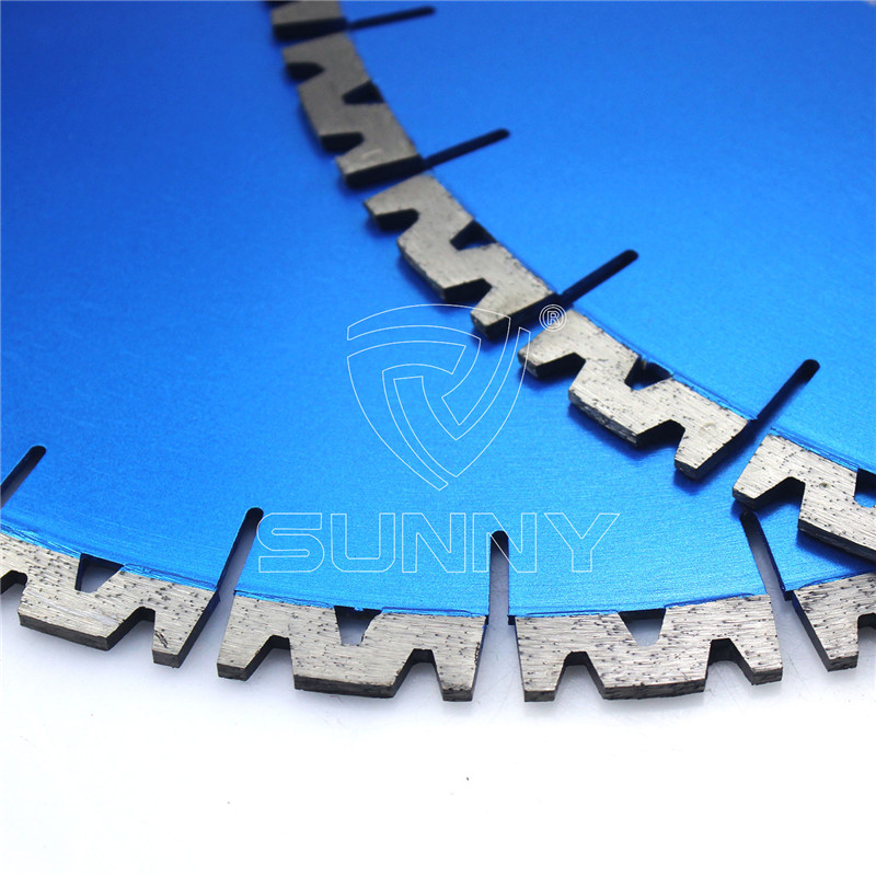 400mm W Shape Silent Granite Cutting Blade For Bridge Saw