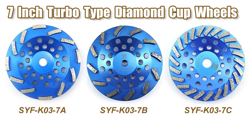 7 Inch Turbo Segmented Concrete Grinding Wheel For Sale