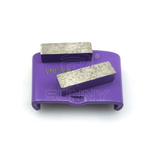 China Concrete Floor Grinding Disc With 2 Diamond Segment Bars