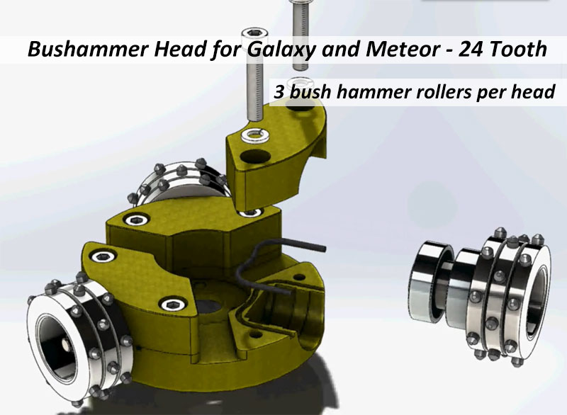 bush hammer head for floorex grinders