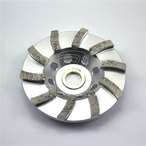 4 Inch Turbo Type Diamond Cup Wheel For Grinding Stones Concrete