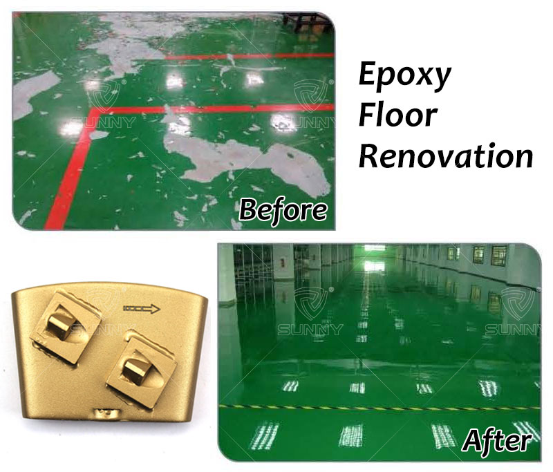 PCD tools  for epoxy floor renovation