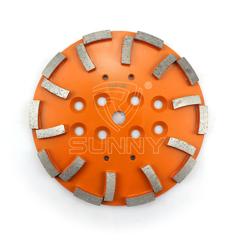 10 Inch (250mm) Concrete Grinding Wheel For Blastrac EDCO MK SPE Floor Grinders Featured Image