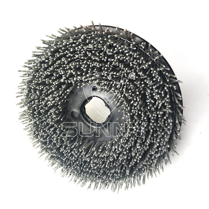 250mm Velcro Backed Diamond Abrasive Brush For Grinding Granite Marble Stones