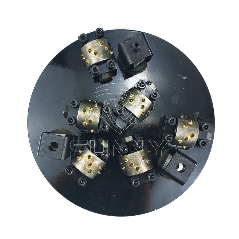 300mm Rotary Stone Bush Hammer Plate With 15 Teethed Heads Featured Image