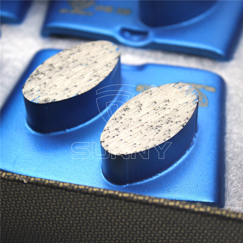 HTC Concrete Grinding Plate With 2 Big Oval Diamond Segments