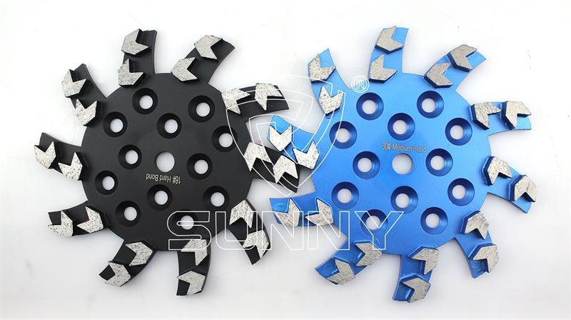 10 Inch (250mm) Arrow Type Diamond Grinding Wheel For Grinding Concrete