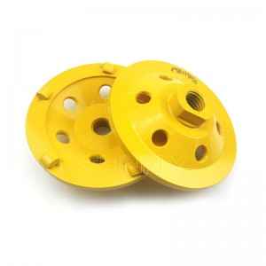 100mm PCD Diamond Cup Wheel For Grinding Epoxy Paint Glue Concrete Floor