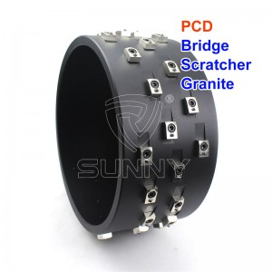 Hot Selling 300mm PCD Bridge Scratcher For Scratching Granite Marble Stones