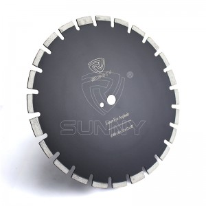 Laser Type 16 Inch Asphalt Cutting Blade With 4 Protective Diamond Segments