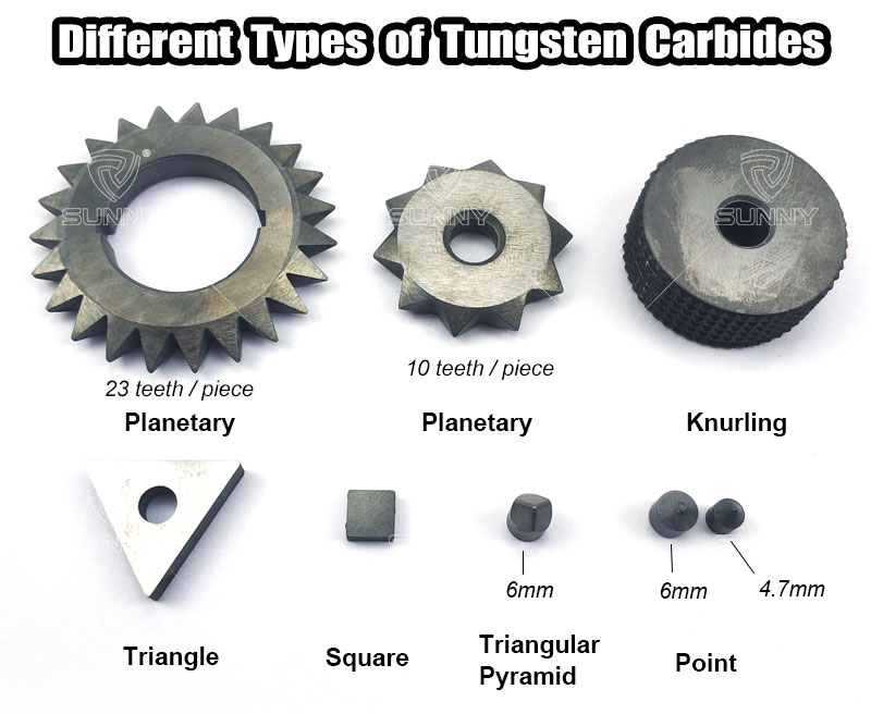 common carbide types for bush hammer tools