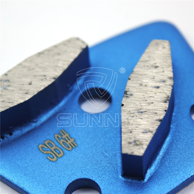 6# Trapezoid Diamond Grinding Pads For Concrete Floor