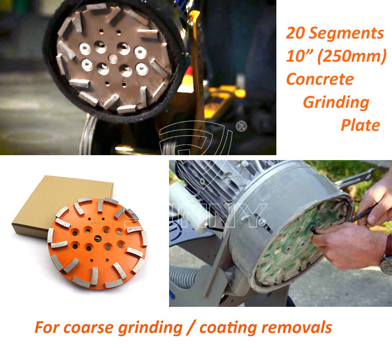 10 Inch (250mm) Concrete Grinding Wheel For Blastrac EDCO MK SPE Floor Grinders