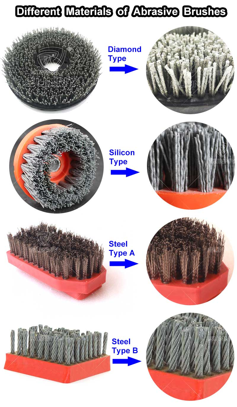 Different  Materials  of  Abrasive  Brushes