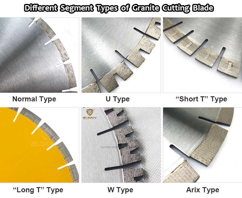 Different Segment Types of Granite Cutting Blade
