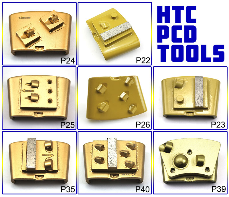 HTC PCD Tools Concrete Floor Grinding Disc For Epoxy Coating Removal