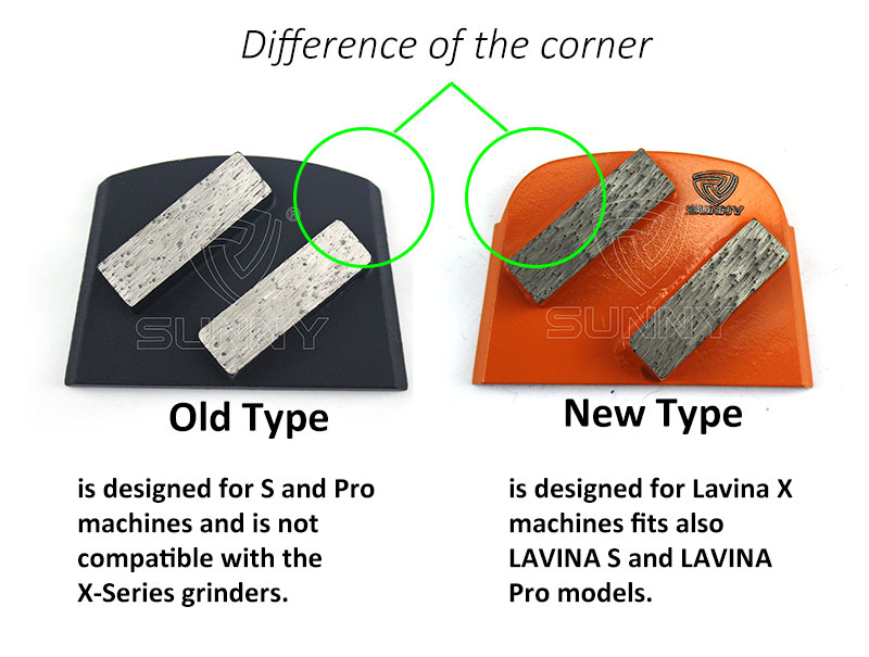 Lavina concrete grinding disc-old verion VS new version