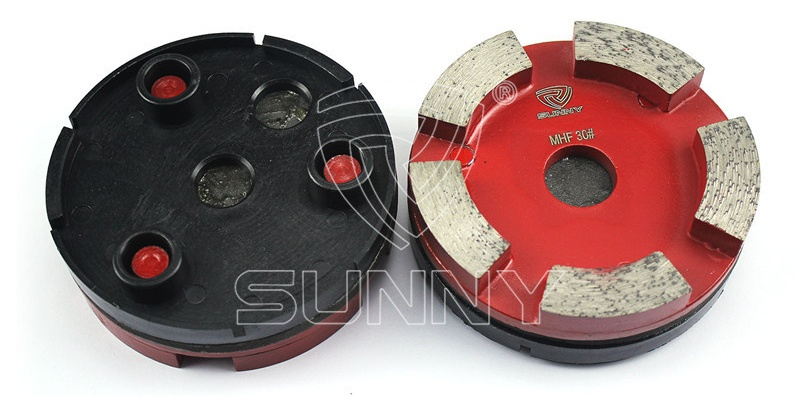 3 Pins 100mm Klindex Grinding Pads For Granite Concrete Floor