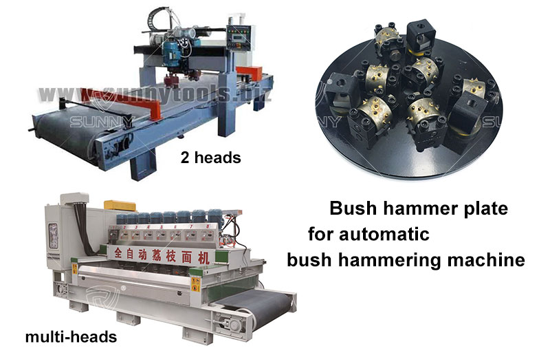 bush hammer plate for automatic bush hammering machines