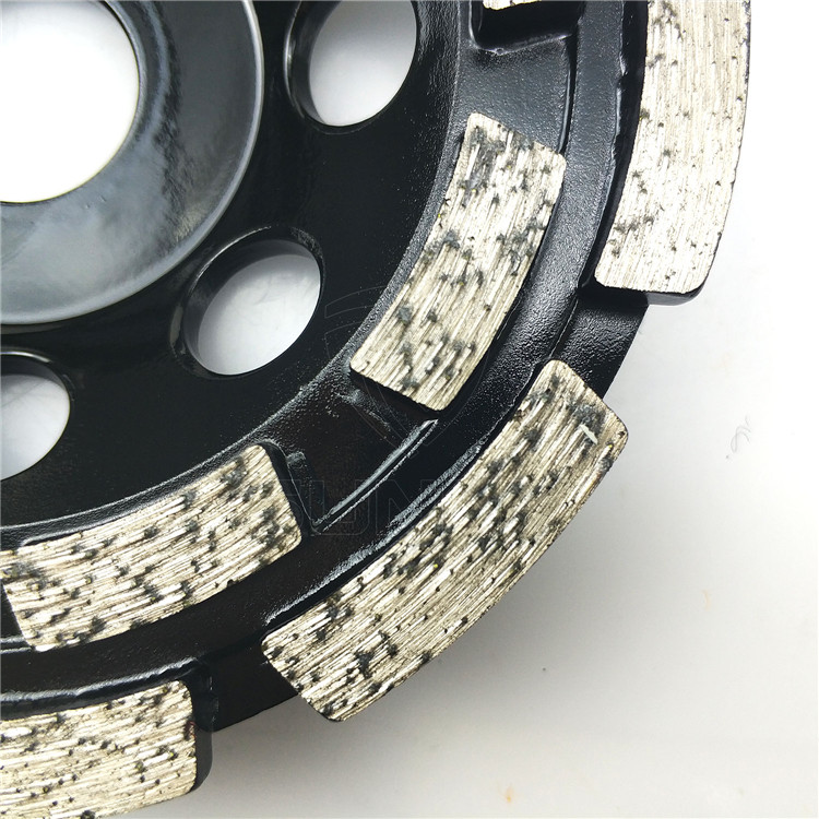 5 inch double row diamond cup wheel for grinding concrete