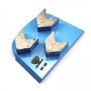 China Arrow Type Lavina Diamond Grinding Plate For Concrete Grinding