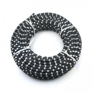 11.5mm Rubber Uhlobo Marble Quarry Diamond Wire Saw Umkhiqizi