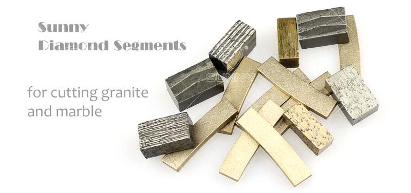 алмазні сегменти для різання граніту і мармуру