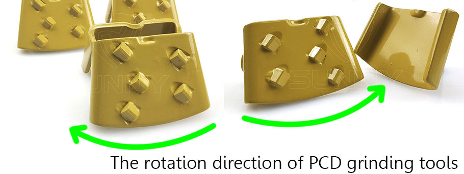 rotation direction of pcd grinding tools