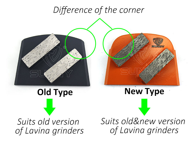 Old type lavina grinding disc vs new type