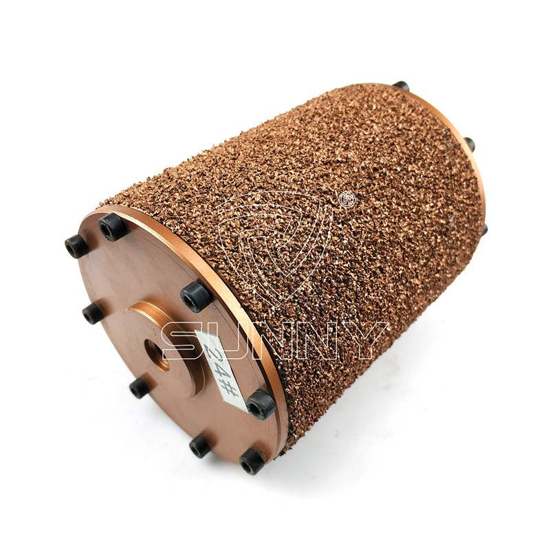 Vacuum Brazed Bush Hammer Scratching Roller For Angle Grinder