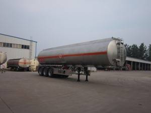 3 axle aluminum alloy oil tanker semi trailer