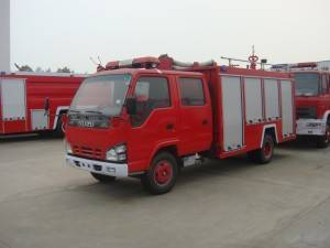 ISUZU 600P 2-4cbm water tanker fire fighting truck