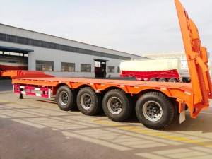 4 axle gooseneck flatbed semi-trailer