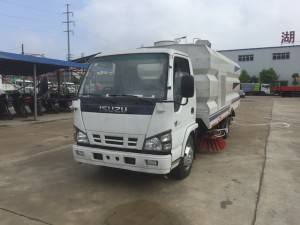 Isuzu 600P 8cbm truk Sweeper cleaning