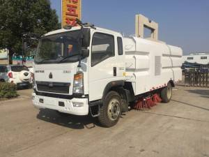 Sinotruk HOWO 8cbm truk Sweeper cleaning
