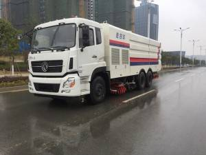Dongfeng 18cbm truk cleaning Sweeper