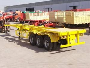 40FT 3 axle skeleton semi-trailer