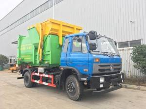Dongfeng 10-12cbm mobile compression garbage station