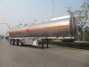 Aluminum alloy fuel tanker semi trailer