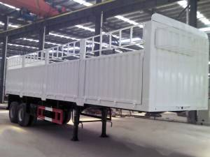 2 axle fenced cargo semi trailer
