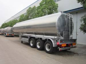Aluminum alloy 45-50cbm triple axles fuel tanker semi trailer