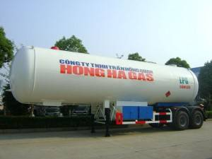 40.5CBM double axle  LPG tank semi trailer