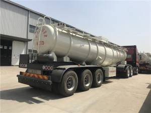 45cbm chemical tank semi trailer