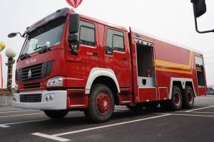 SINOTRUK HOWO 16cbm water and foam fire fighting truck