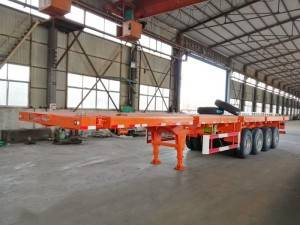 4 axle flatbed semi-trailer